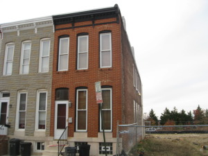 End of group town home in Federal Hill